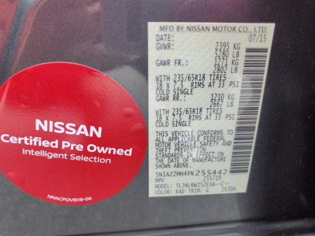 Certified Pre-Owned 2015 Nissan Murano SL